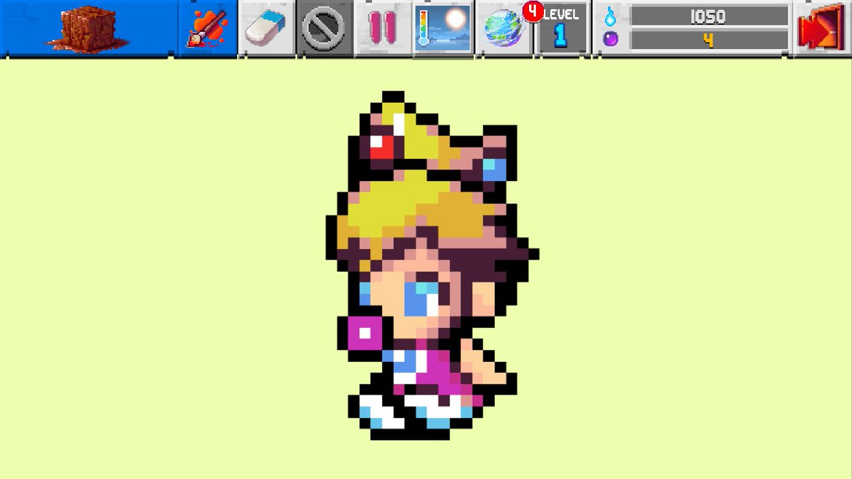 The Sandbox On Twitter Baby Princess Peach Pixelart