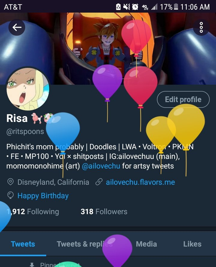 Of birthday balloons and flowers