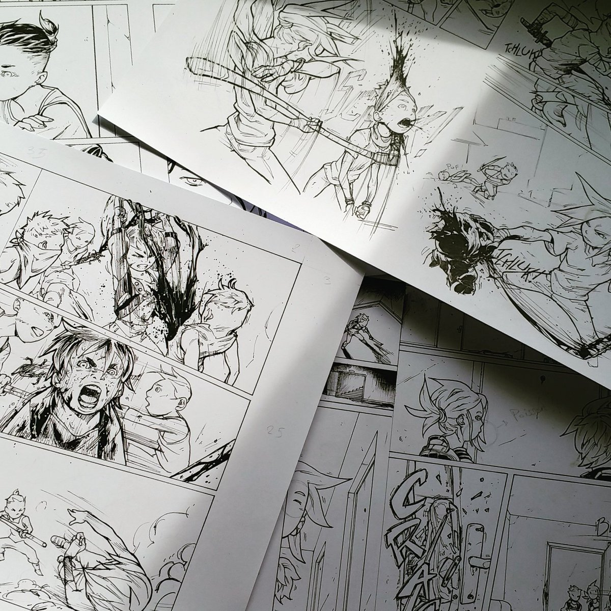 Before posting the new panel, I&#39;m looking back the old ones... #manga #comic #ink #inking #MondayMotivation #lyon <br>http://pic.twitter.com/ewBdoqIwrC