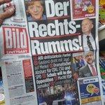 «HØYRE-SMELLET!» Slik ser #Tysklands største avis ut i dag. Høyrepopulistene i AfD får 12.6 prosent, blir tredje største parti.