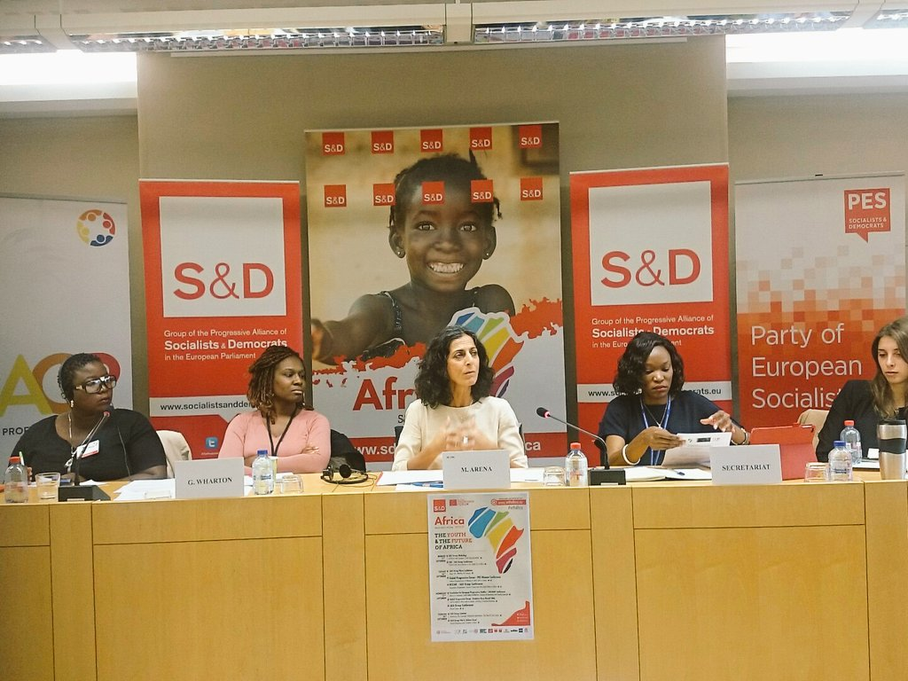 .@Mariearenaps says it&#39;s unacceptable some young #African participants had visas denied to join Forum in the heart of #EU @TheProgressives<br>http://pic.twitter.com/PKhI7N3Ek7