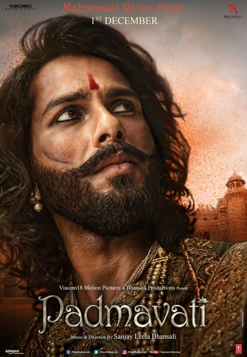 Here is the stunning look of @shahidkapoor in padmavati. #TheKingIsHer...