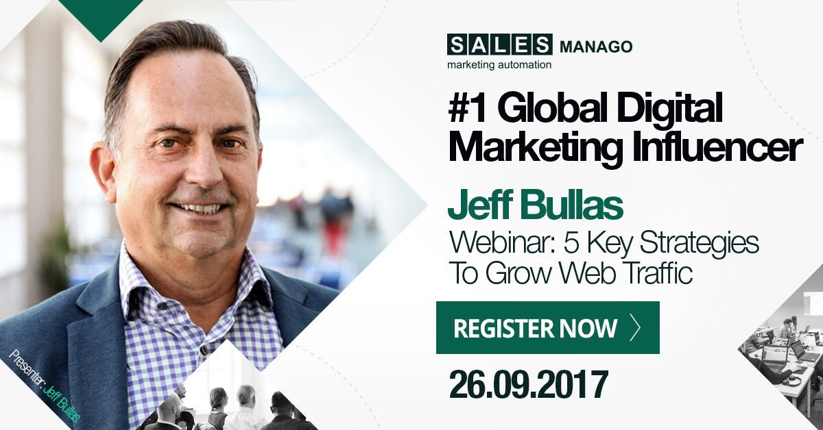 Increase your #WebTraffic without paying a cent to Google or Facebook. #free #webinar @jeffbullas via @IoTAgeIsHere  http:// salesmanago.com/info/webinar_w ith_jeff.htm &nbsp; … <br>http://pic.twitter.com/wtAUZKkblS