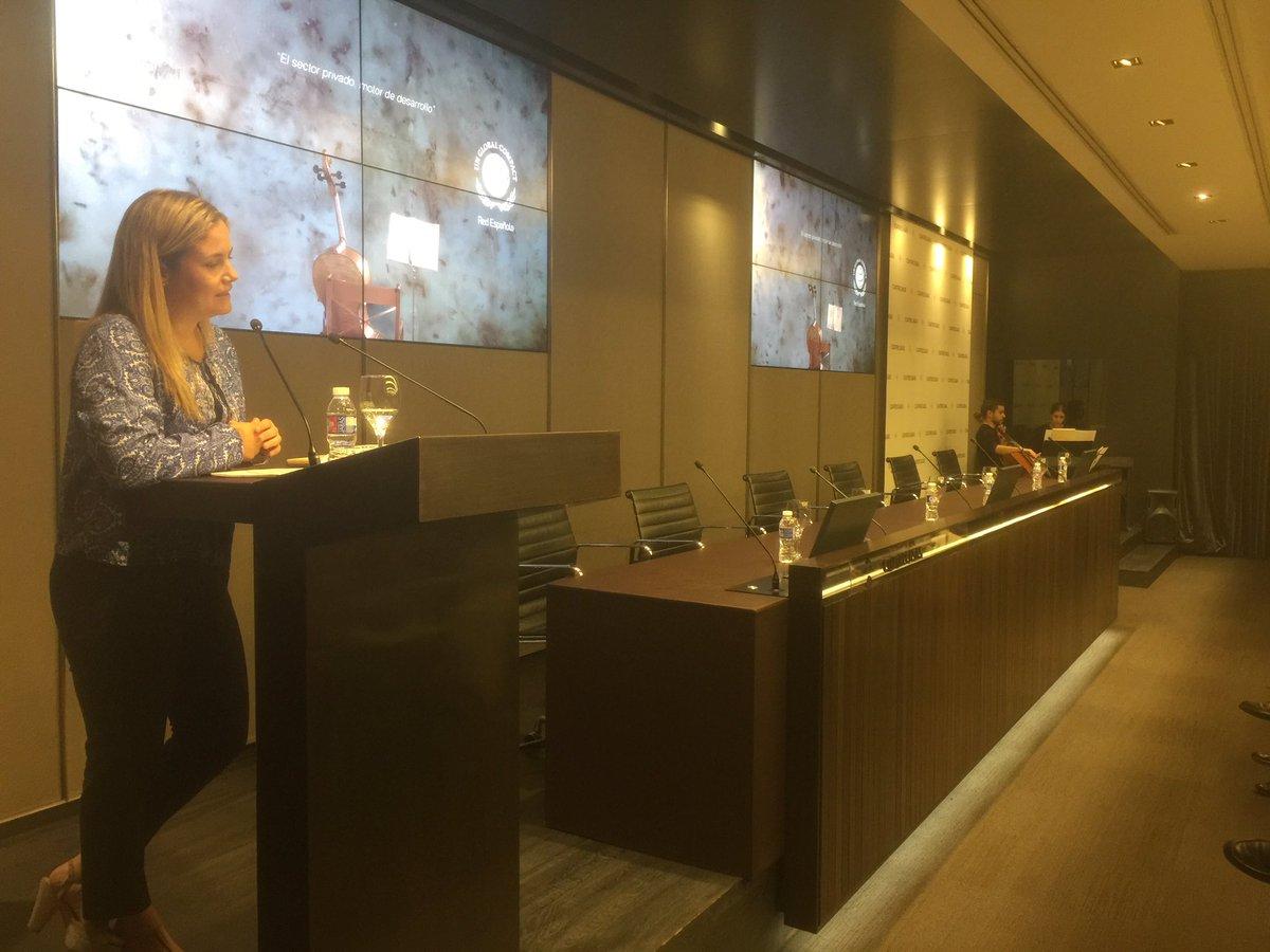 .@Isabelgarro nos recuerda 'q la #Agenda 2030 es una partitura q tenem...