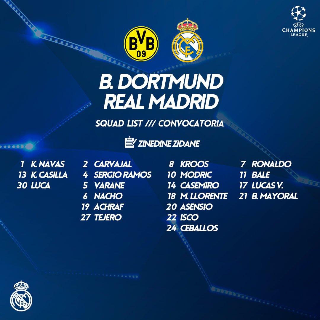 Real Madridin Dortmunda yollanan heyəti (foto)