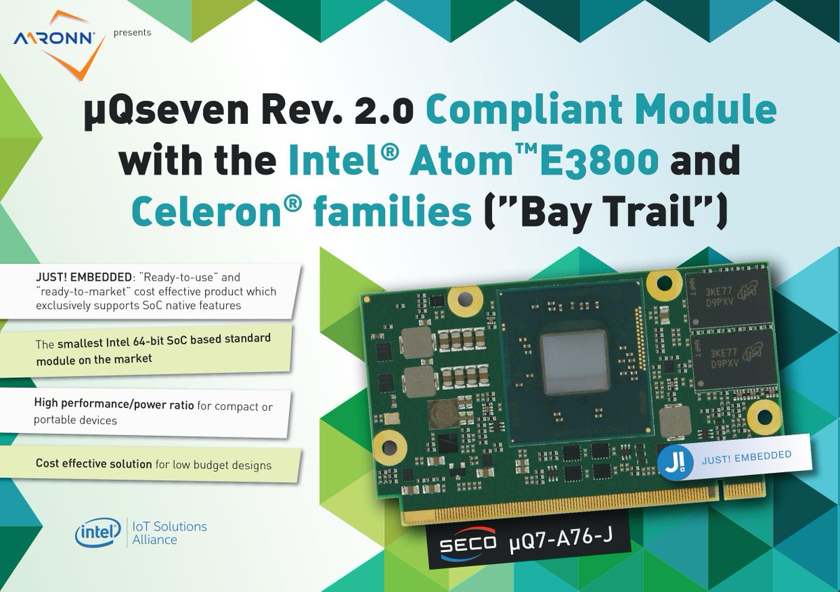 Aaronn Electronic On Twitter Q7 A76 J From Seco A Qseven Rev 64 Bit Computer Module 20 Compliant The Smallest Intel Soc Based Market Embedded Https Tco 2hpwhtk1tl