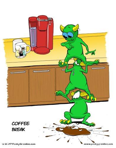 Pesky Gremlins Comic 252 - Coffee Break  http://www. peskygremlins.com / &nbsp;   #comic #comics #webcomic #webcomics<br>http://pic.twitter.com/MDqSu8y8Wf