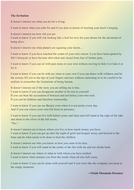 Chris Garafola on Twitter One of my favorite poems Its called