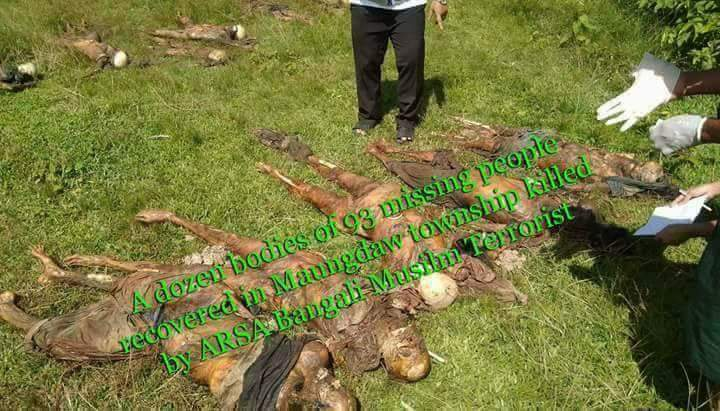 Forty-five Hindus allegedly killed by Bengali(so-called Rohingya) Muslims in Rakhine#Myanmar. #UN, #UNHumanRights , #CNN, #BBC #HRW, #Times<br>http://pic.twitter.com/9FSpdP4s9P