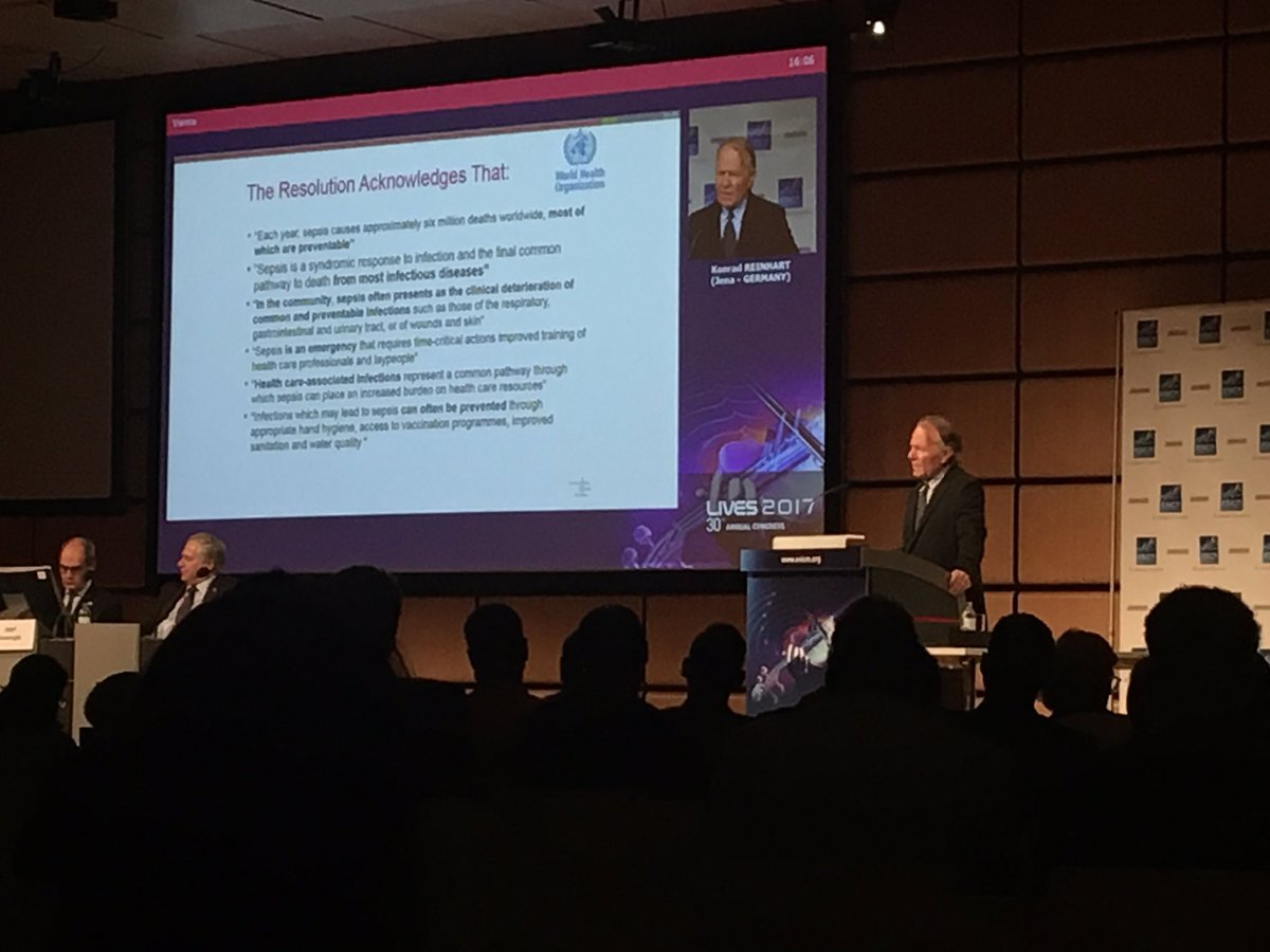 Prof. Reinhart speaks about @WHO resolution on #sepsis   #SepsisIsAnEm...