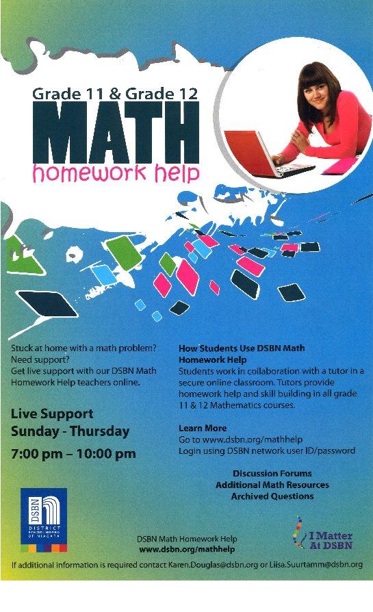 dsbn math homework help