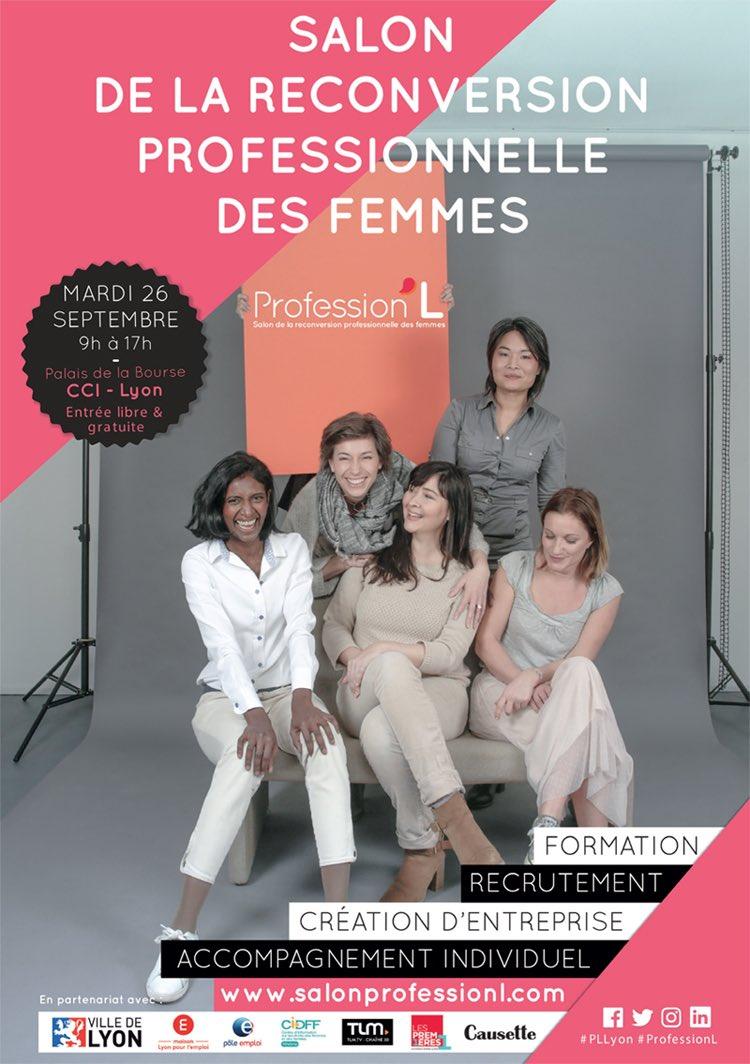 #SaveTheDate 🎯 26/09 rdv #Lyon pour le salon de la #reconversation pro des femmes https://t.co/2iV6yLG28E #PLLyon #ProfessionL #MDM2018 https://t.co/AyRcqhi5sd