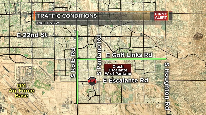#CRASH: We have a new crash near Lincoln Park/Santa Rita HS on Escalante w of Pantano. Take Golf Links/Kolb. #Tucson<br>http://pic.twitter.com/ePqTV0nNWo