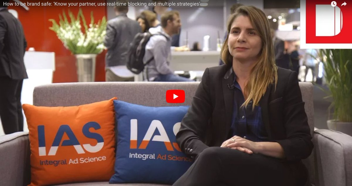 Want to keep your brand safe? Our CMO, Maria Pousa, gives you some tips. Watch the interview @TheDrum at #dmexco:  http:// integr.al/2xzcF5A  &nbsp;  <br>http://pic.twitter.com/kUl1oQ4gEX