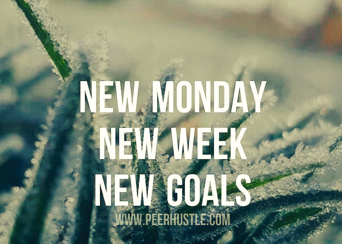 &quot;New week, new goals&quot;   #entrepreneur #startup #success #MakeYourOwnLane #defstar5 #mpgvip #spdc #inspiration #quotes #MondayMotivation<br>http://pic.twitter.com/RmOsk0IpkD