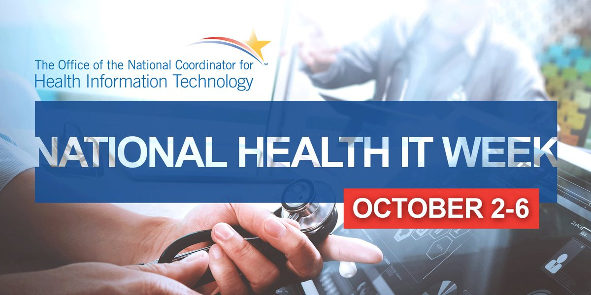 Join the conversation on National #HealthIT Week using #NHITWeek https://t.co/p8QxTQTWiz