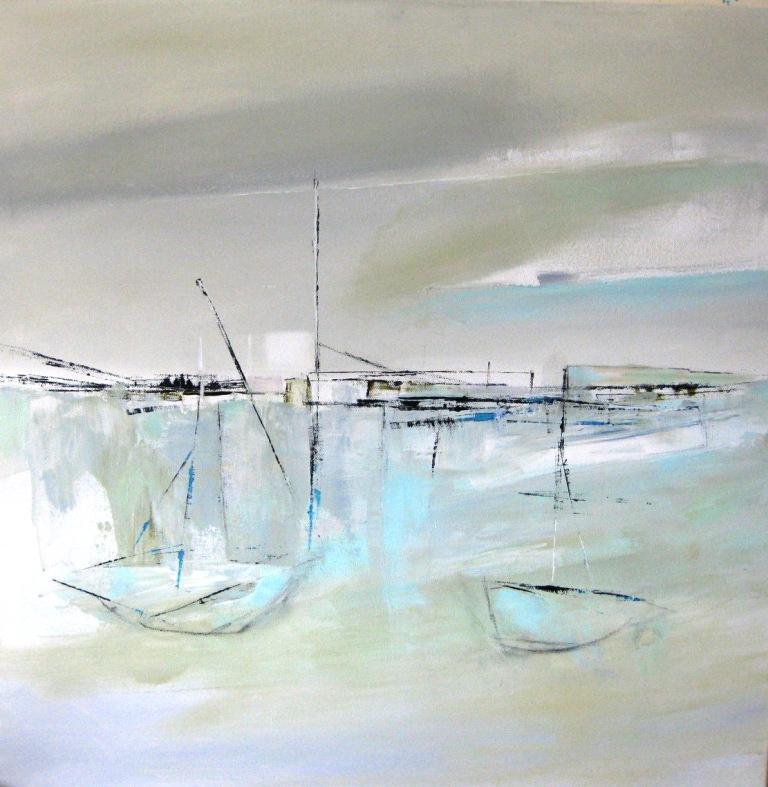 New Painting. &#39;A Sense of Sailing&#39; For Sale. 2&#39; Square. Acrylics on Canvas. #abstractart #originalart<br>http://pic.twitter.com/ttAmJizHBP