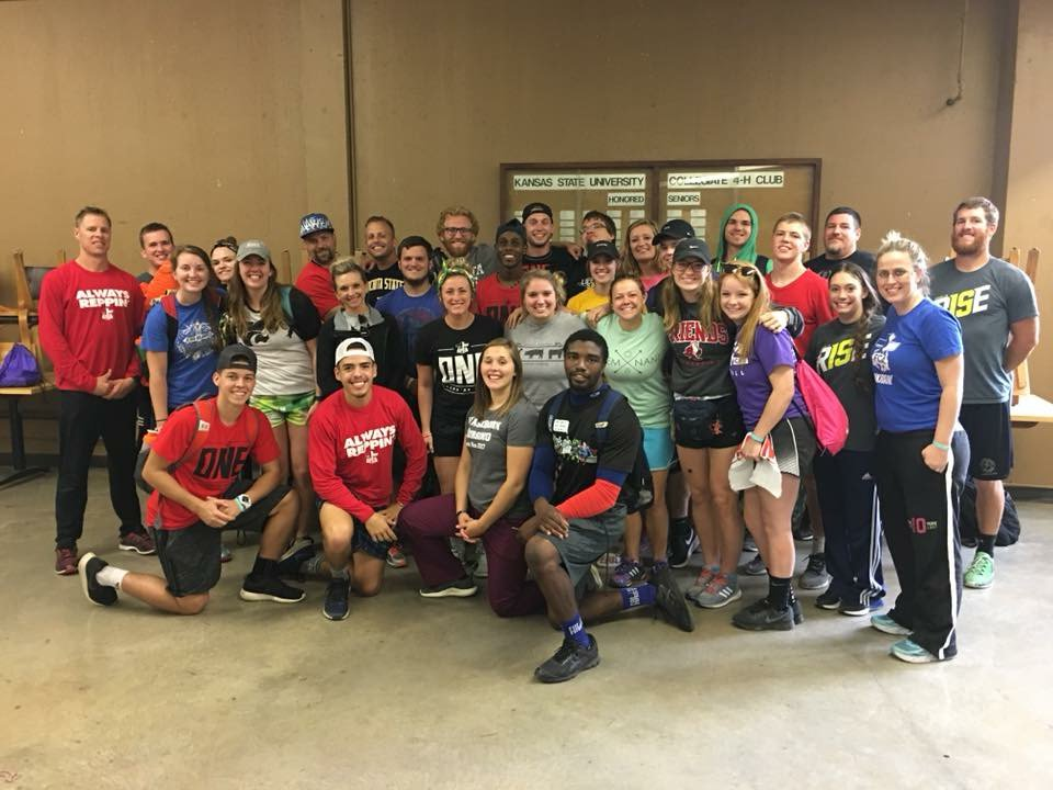 SHOUTOUT to our awesome Huddle leaders for your energy &amp; dedication to the students this weekend. Camp would not happen w/o you! #KSFCA #ONE <br>http://pic.twitter.com/qLVpGh3Ceu