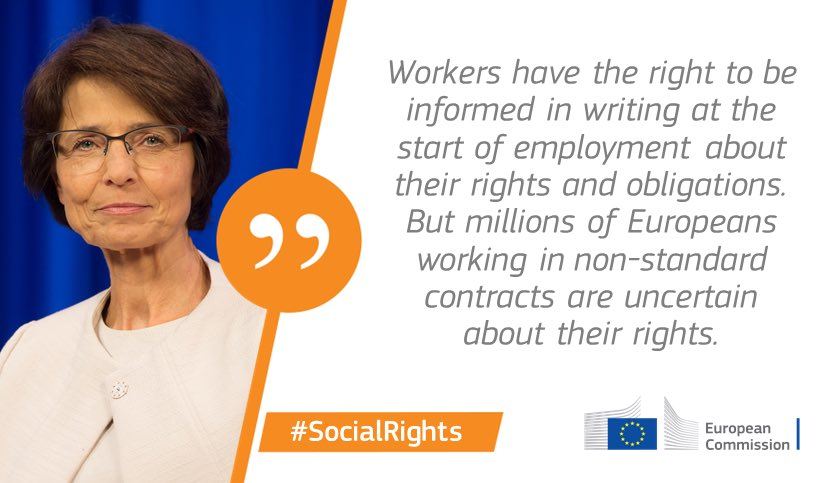Today we are moving ahead in our consultation w/ social partners to update #EU rules on labour contracts <br>http://pic.twitter.com/XV0ZbL8rvZ