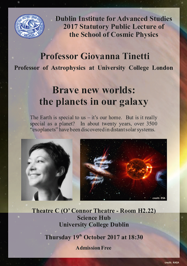 "test Twitter Media - Oct 19th #DIASDublin talk ""Brave new worlds: the planets in our galaxy"" by Prof Giovanna Tinetti @ucl Book here - https://t.co/GrMj1TwPRU https://t.co/idzWGaLAMr"