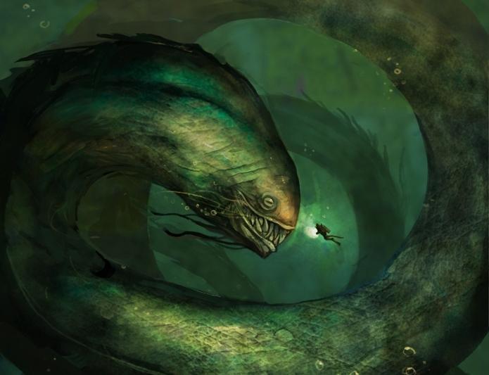 фото морского змея чудовище видом деятельности является