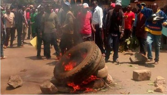 Protests in Kiambu after Babu Owino remarks (Photo) https://t.co/Zpvin...