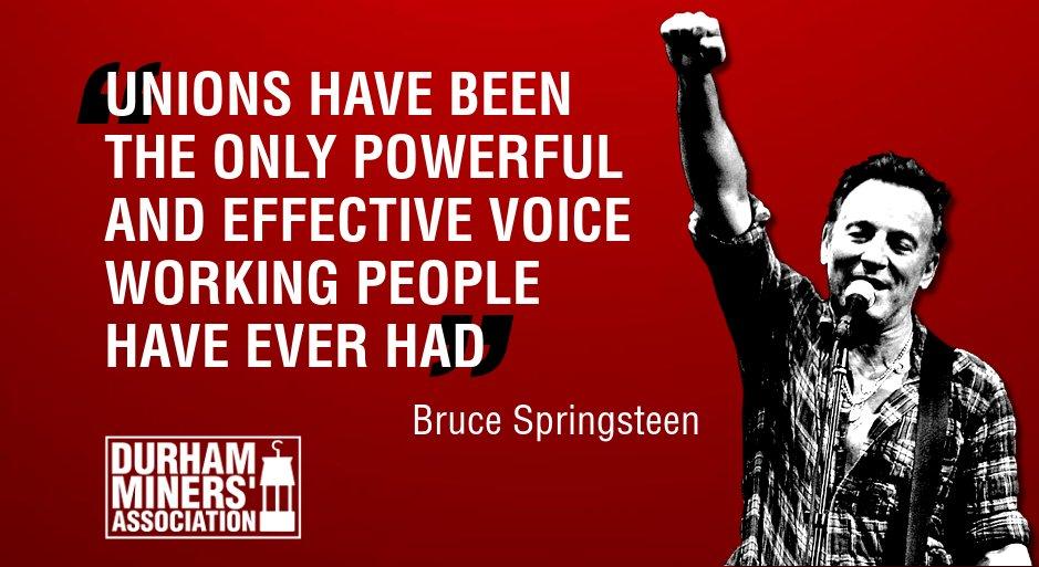 Bilderesultat for bruce springsteen miners strike
