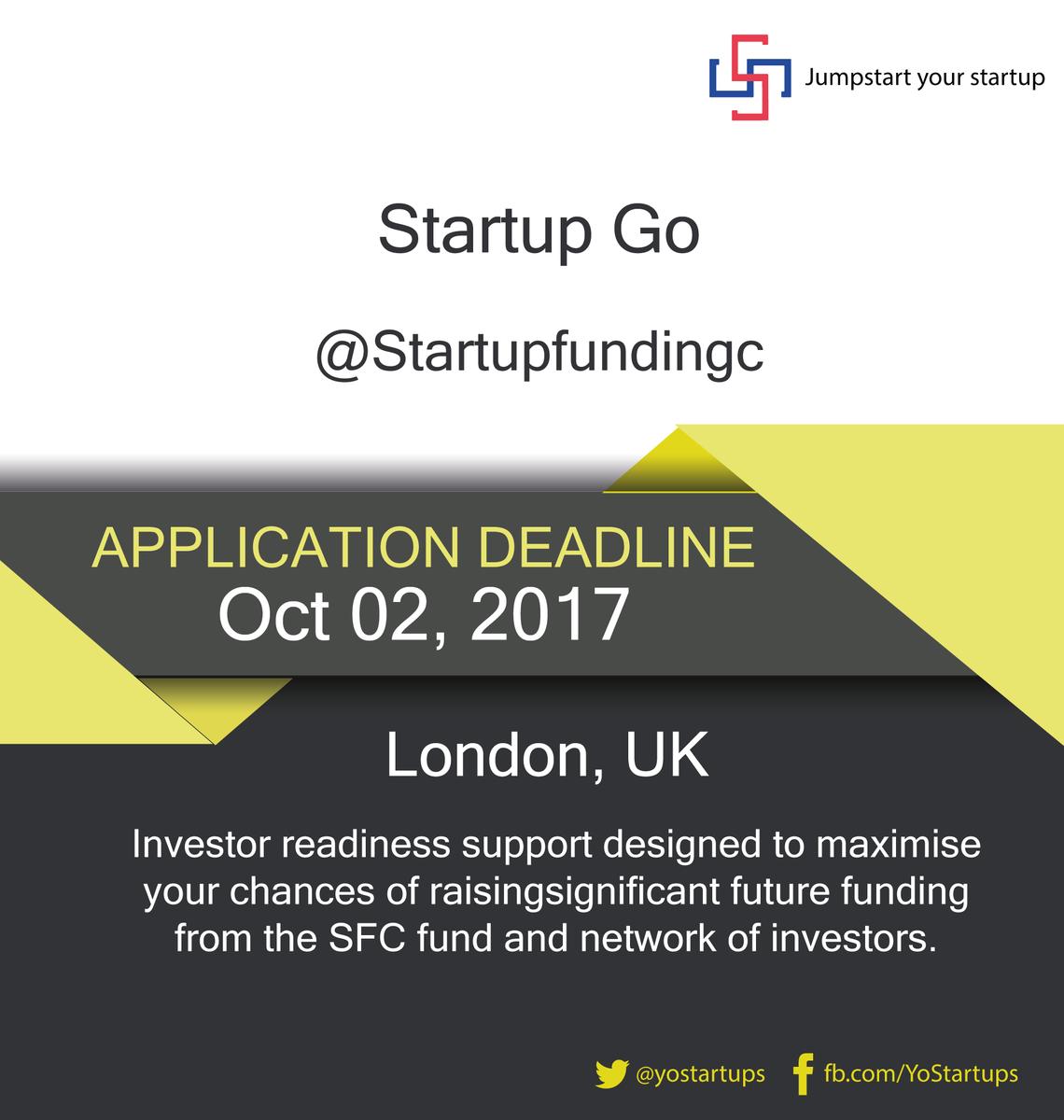 Checkout @Startupfundingc exciting new initiative for early-stage entrepreneurs #Startups #accelerator #YoStartups  https:// goo.gl/MFrLsx  &nbsp;  <br>http://pic.twitter.com/NdZdIMpwRz