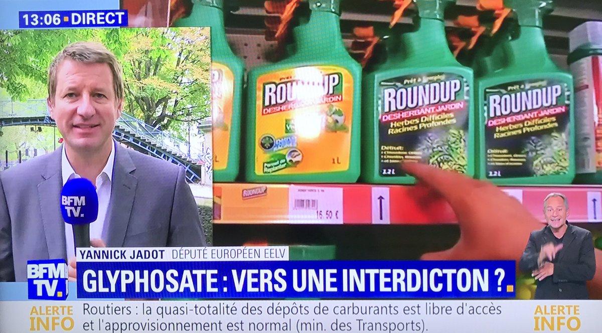 C'est dès maintenant et au niveau européen qu'il faut interdire le #glyphosate, le gouvernement cède de nouveau aux industriels #scandale