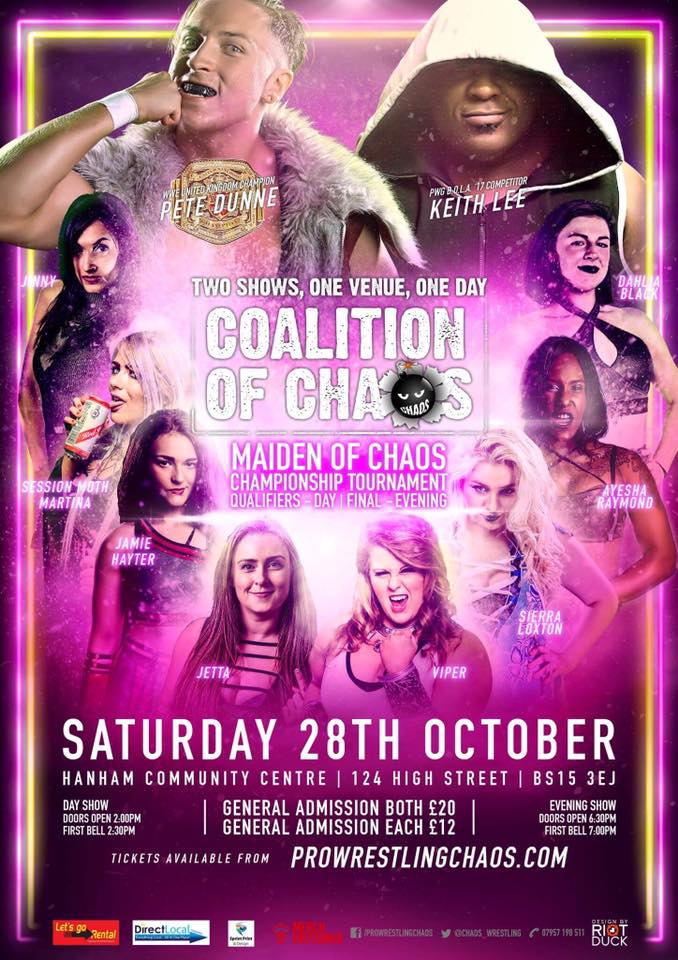 Not To Be Missed! @chaos_wrestling Maide...