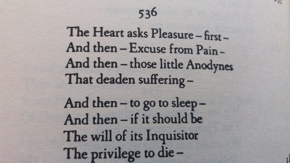 emily dickinson the heart asks pleasure first