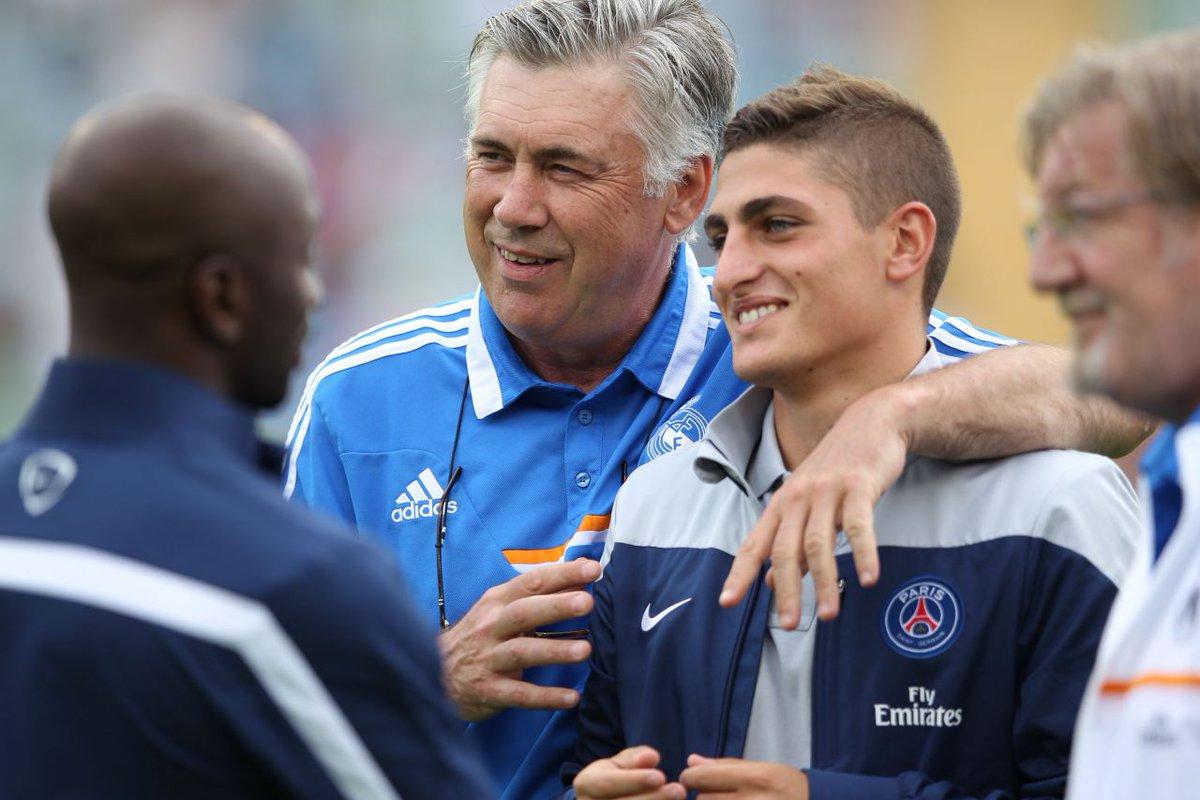 PSG : pour Ancelotti, Verratti «voulait améliorer son contrat» cet été https://t.co/MESOqf2QOK