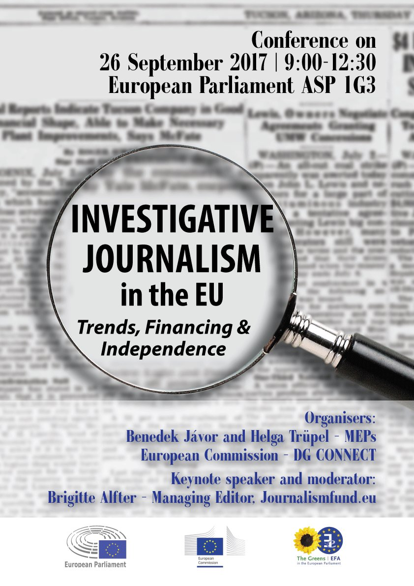 Tomorrow! Conference on Investigative journalism in the EU Follow webstream, send&amp;  via Twitter #IJEU17  https:// ec.europa.eu/digital-single -market/en/news/conference-investigative-journalism-eu-issues-trends-financing-independence &nbsp; …  #media <br>http://pic.twitter.com/JWML4OwHdp
