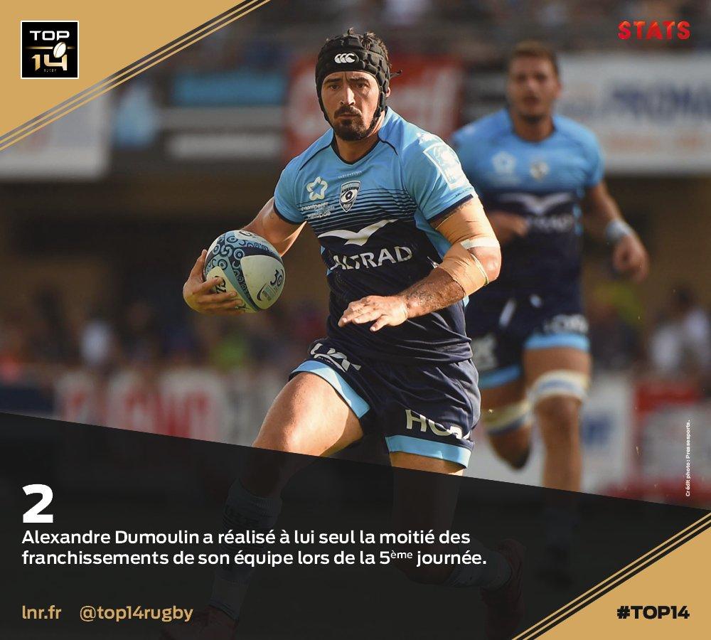 #TOP14, J5 | #Stats ► @Alex89Dum, précie...