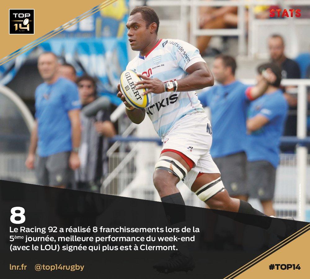 #TOP14, J5 | #Stats ► Le @racing92, au t...