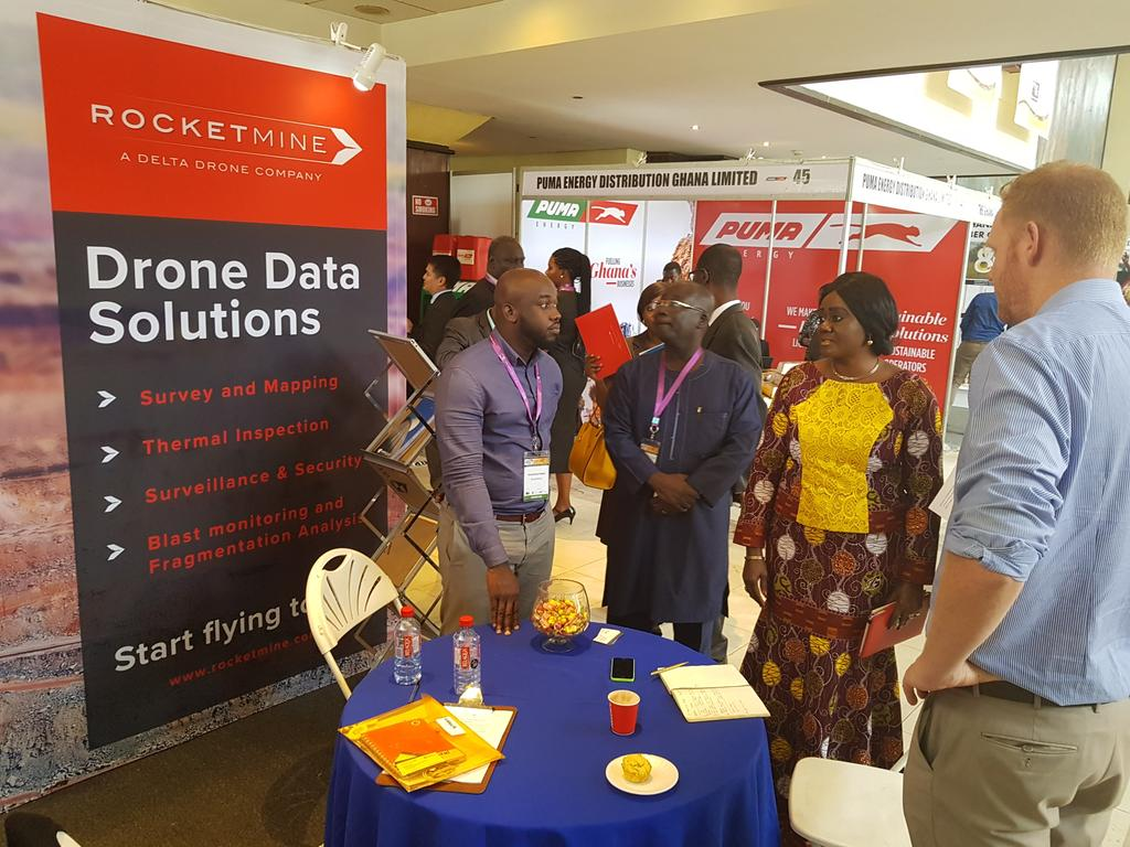 Dept. Minister of Lands and Natural Resources, Hon Barbara Oteng Gyasi appreciating drone solutions. #WaCA #Dronelife #Drones <br>http://pic.twitter.com/VbMwK3PpoU
