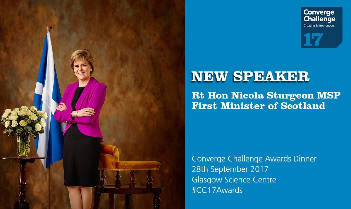 First Minister of Scotland @NicolaSturgeon MSP @ScotGovFM will speak #CC17Awards #entrepreneur #university #startup  http:// ow.ly/xHkD30fltV2  &nbsp;  <br>http://pic.twitter.com/H0mp3GrXHD