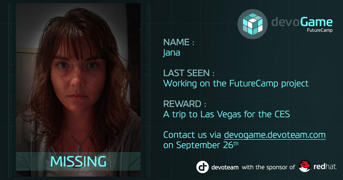 Students join the #devogame17 tomorrow and help Jana with her quest. Reward: A trip to Las Vegas. #CES2018 #Students #digitaltransformakers<br>http://pic.twitter.com/tG7EJiINte