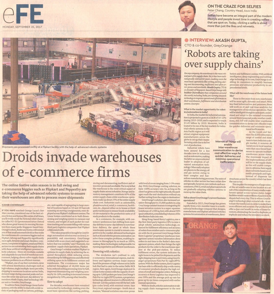 @GoGreyOrange is helping #ecommerce, #logistics, #retail #FMCG cos automate their #supplychain  http:// bit.ly/2xuPKq2  &nbsp;   @FinancialXpress<br>http://pic.twitter.com/m5NUMGkbTm