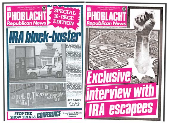 #OnThisDay 1983 – &#39;The Great Escape&#39; when 38 IRA prisoners break out of the H-Blocks of Long Kesh  http://www. anphoblacht.com/contents/23354  &nbsp;   #OTD <br>http://pic.twitter.com/r3SbMM4XGM