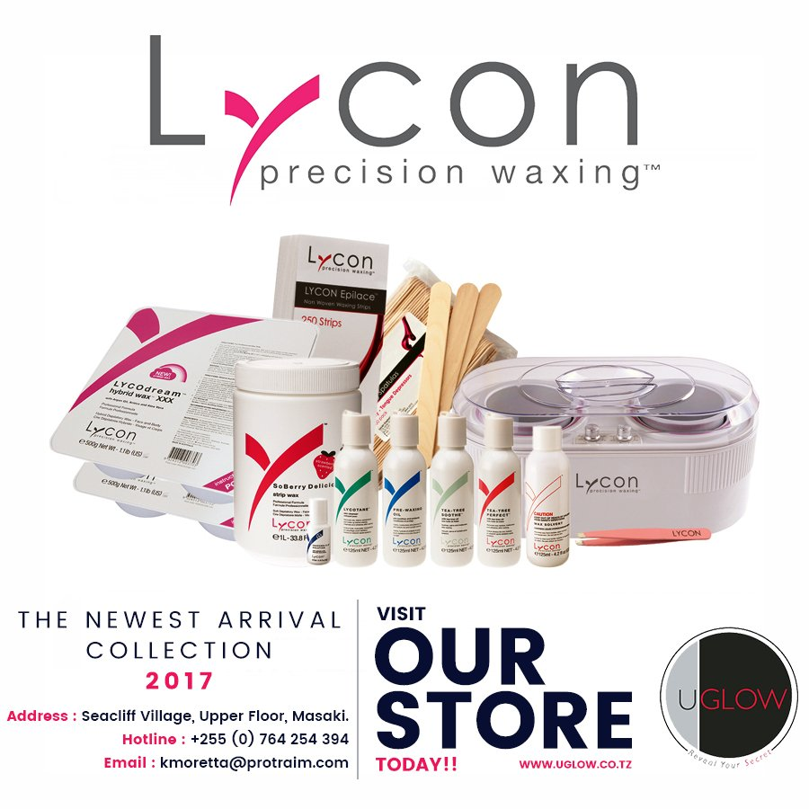 Uglow tanzania on twitter visit our store at seacliff village uglow tanzania on twitter visit our store at seacliff village masaki and get yourself a brazilian wax treatment with lycon professional waxing products solutioingenieria Image collections