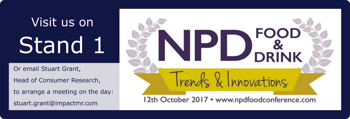 Impact is at the #NPD Food and Drink Trends and Innovations Conference, are you?#trends #innovations #fmcg <br>http://pic.twitter.com/6p06mptkx6
