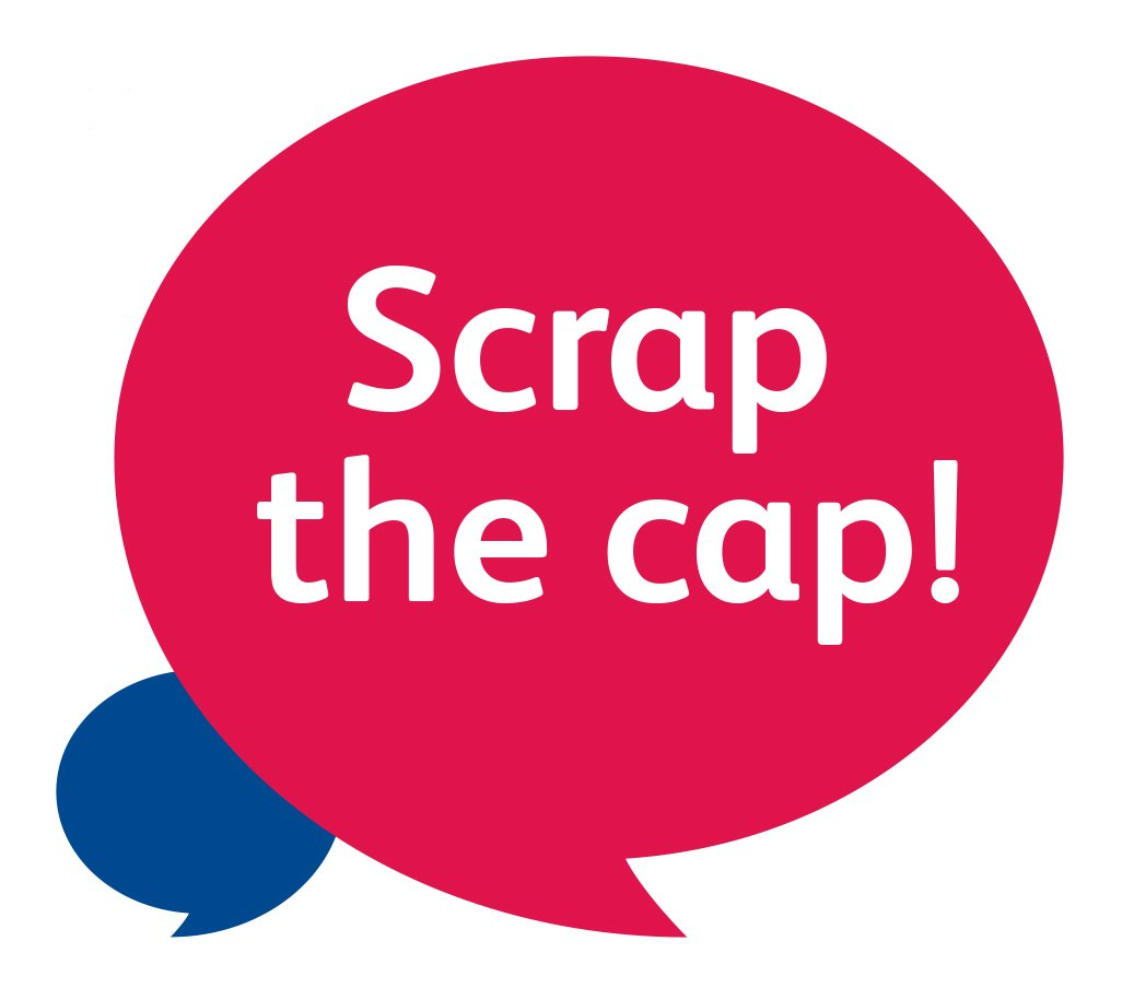 Look out for the #scrapthecap campaign at Brookfields Hospital in Camb...