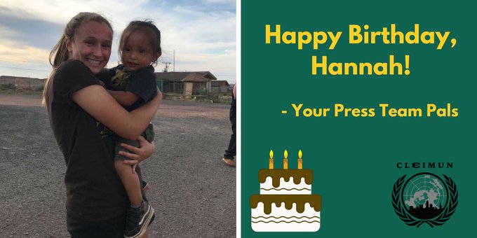 Happy birthday to our head of press and our good pal! Hope you have a great day Hannah!