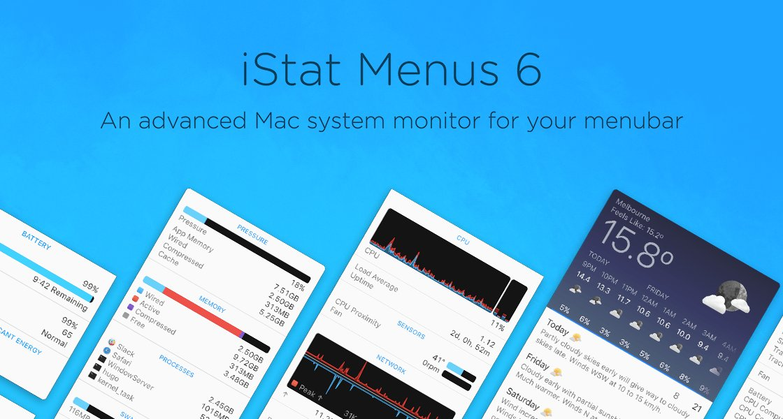 Introducing iStat Menus 6. https://t.co/mlTrtoQf5A https://t.co/NiUC1ytO5X