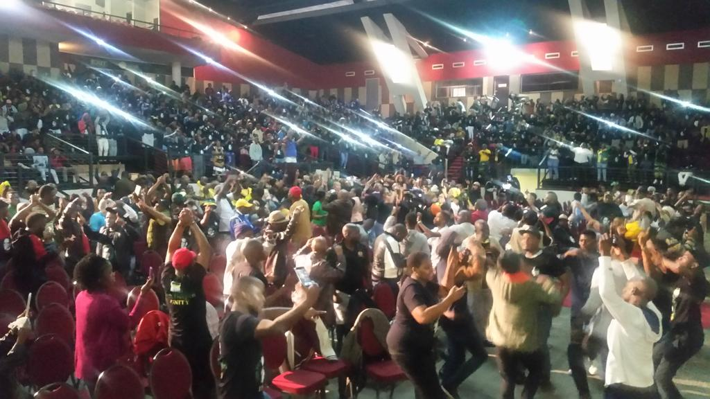 Exuberant singing and dancing ahead of #ANC TG#ZweliMkhize address in #Durban #ORTAMBO #sabcnews<br>http://pic.twitter.com/iGd4PKGsjX