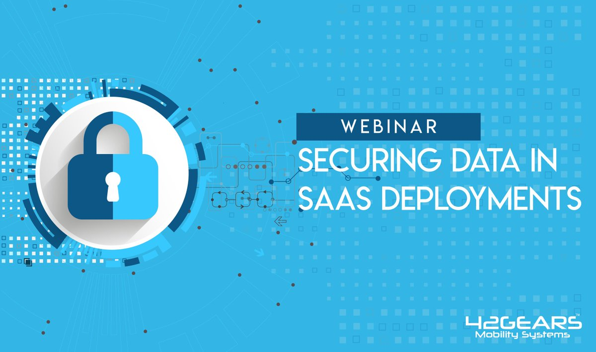 Join our latest #webinar to know how to ensure #datasecurity in #SAAS Deployments. Register now -  http:// bit.ly/2wR2tRH  &nbsp;  <br>http://pic.twitter.com/pCOXFU3OFf