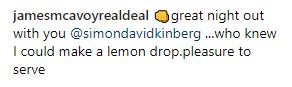 #JamesMcAvoy&#39;s comment under the picture: <br>http://pic.twitter.com/7VVd5QAS60