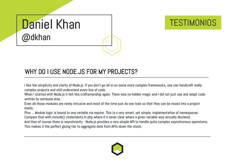 On Oct 28th @dkhan will present at #NodeConfAr17, take a look at what his thoughts are on #Nodejs  <br>http://pic.twitter.com/5sbJZX1pyR