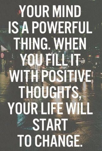 Mindset matters. The law of attraction i...